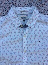 HILFIGER DENIM - Cream - Red-Blue Floral Pattern - Button Cuff - Shirt - M