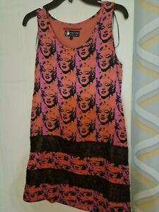 Gorgeous Andy Warhol summer dress with Marilyn Monroe print. Never worn.