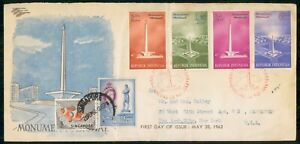 Mayfairstamps INDONESIA FDC 1962 COVER NATIONAL MONUMENT COMBO wwm20095