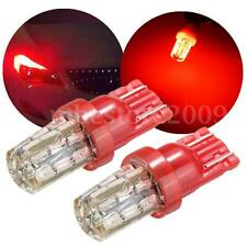 2x Red 24SMD T10 W5W 168 194 3014 LED Bulb For Car License Plate Side Light Lamp
