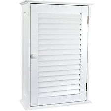 Home Discount Bathroom Cabinet Single Door Shutter Wall Mounted Storage White
