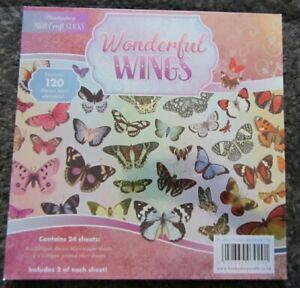 Hunkydory-Mirri Crafts Stack-'Wonderful Wings' Die Cut Elements Pad-24 Sheets