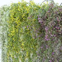Fake Artificial Silk Flower Vine Hanging Garland Plant Home Garden Wedding Decor