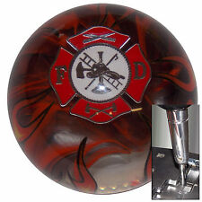 Fire Fighter Flame shift knob w/ chrome adapter for automatic shifters See desc.