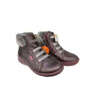 Biomecanics 181167 Girls Boots in Bordeaux with Fur Cuff (Clearance Price) UK 11