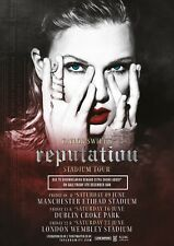 "TAYLOR SWIFT ""REPUTATION STADIUM TOUR"" 2018 UK CONCERT POSTER-Pop, Country Music"