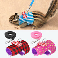 Pet Mesh Soft Harness With Leash Small Animal Vest Lead for Rabbit Bunny S M