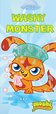 Moshi Monsters Washy Monster Bleu Serviette de Bain de Plage Coton Enfants