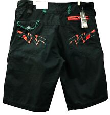 NEW MENS AUTHENTIC MISKEEN BLACK CARGO SHORTS