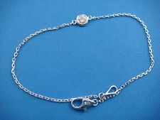 "!CUTE 0.11 CT ""DIAMONDS BY THE YARD"" SINGLE BEZEL DIAMOND BRACELET"