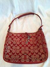 Red Coach Handbag Signature  Clip Demi Bag/Clutch Evening Bag