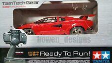 1/12 Tamiya RC Countach '80s Lamborghini LP500S TamTech Gear GT-01 2wd RTR Model