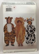 1997 Butterick Sewing Pattern #4115 Toddler Halloween Costume Lion Tiger Cow3918