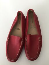 Rockport Flat Red Leather Shoes Size 38, Us Size 7.5