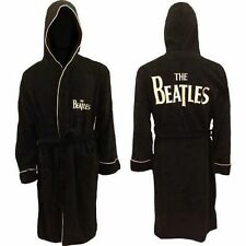 Beatles - Black Fleece Bathrobe (Badjas) - Classic Logo Drop T - NEW