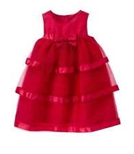NWT Gymboree Tiered Tulle Holiday Dress Royal Red Sz 4T $55 Bow Layer Ribbons 13