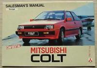 MITSUBISHI COLT Confidential Salesman's Manual Brochure Feb 1984 EUROPE EDITION