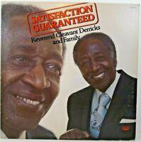 "Reverend Cleavant Derricks Satisfaction Guaranteed Music 12"" LP Album Vinyl"