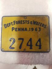 1963 Pennsylvania Department Forests & Waters License PGC Pa Game Commission
