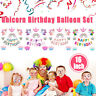 Unicorn Star Balloons Set Happy Birthday Party Dec Princess Girl Foil Kids