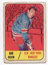 1X BOB NEVIN 1967 68 Topps #28 G NEW YORK RANGERS