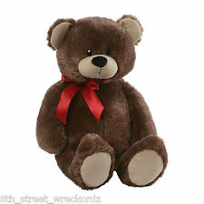 "GUND® JUMBO BROWN TEDDY BEAR | 26"" SOFT CUDDLY PLUSH VALENTINES GIFT ANNIVERSARY"
