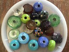 Vintage Sample Card Soda Trade Import Mix Chunky Glass Bead Lot