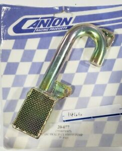 """Canton 20-077 Oil Pump Pickup Small Block Chevy For M10555 Pump In 7"""" Pan"""