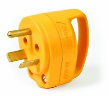 Camco 55283 30 AMP Mini Replacement Male Plug with PowerGrip Handle