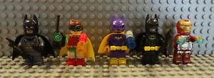 (B7/2) Lego Super Hero Batman Robin Batgirl Iron Man sh167 Used Figurine