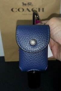 Coach Container with Bottle Holder Leather Dark Blue 5764 New