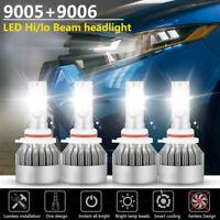 Combo 9005+9006 LED Headlight Hi/Low Beam 6000K Kit for Toyota Corolla 2001-2013