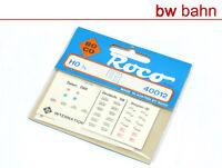 Roco H0 40012 Roco Zuglaufschilder, gemischter Satz, Decal-Bogen Neu