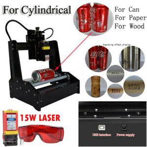 Cylindrical Laser Engraving Machine & 15W Laser Module For Aluminum DIY Engraver