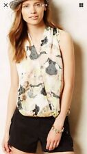 EUC Cute Anthropologie Dolan West Coast Top Size M Black Grey Multi