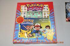 Vintage Pokemon Sticker Extravaganza & Album 1999 Sandylion Game Freak Nintendo