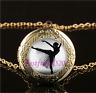 Ballet Dance Photo Cabochon Glass Gold Plating Locket Pendant Necklace