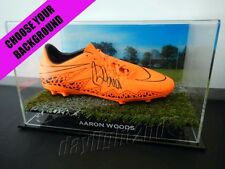 ✺Signed✺ AARON WOODS Football Boot PROOF COA Wests Tigers NRL 2017 Jersey