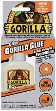 Gorilla Glue Crystal Clear No Foam Formula 1.75oz 51mL Indoor Outdoor