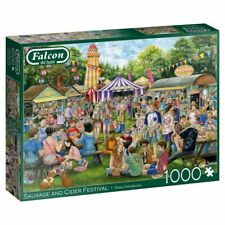 Sausage and Cider Festival Jumbo Falcon De Luxe Jigsaw Puzzle 1000 Pieces