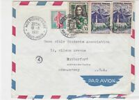 France 1961 Airmail  to U.S.A. Multiple Cancel & Stamps Cover ref R 18999