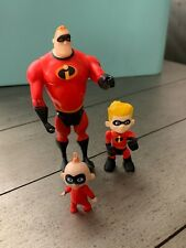 Dash,Jack and Mr Incredibles 3 jointed Action Figures lot Disney Pixar