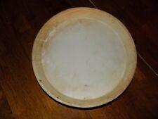 "Pampered Chef Baker Stoneware Plate 11"" round Euc Free Usa Shipping"