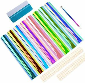 """Permanent Adhesive Backed Vinyl Sheets by EZ Craft 12"""" x 12"""" 8 Sheets for Cricut"""