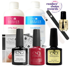 CND Shellac Starter Kit, Top/Base/Essentials/Color Wildfire