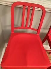 Emeco Navy 111 Counter Stools Red (2 available)