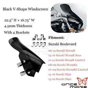 Motorcycle Windshield Windscreen With Bracket For Suzuki Boulevard M50 M90 M109R