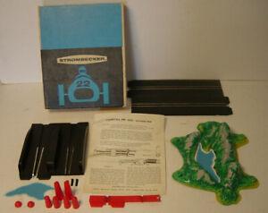 Strombecker Jump Track Pond Complete Box 1/32 Slot Race Car 9292 1960s Vtg Extra