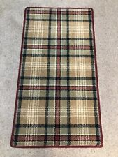 HUGH MACKAY SHAKER TARTAN MUSTARD BESPOKE RUNNER 58X110CM WOOL YELLOW GREEN RED
