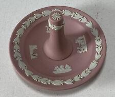 Vintage Wedgewood England Pink Jasperware Ring Holder Tree Jewelry Dish